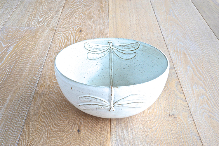 Dragonfly salad bowl